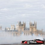 Formula-e launch, Karun Chandhok cooks donuts in front of the Big Ben