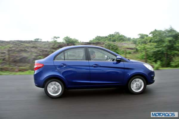 Tata Zest 1.2 revotron petrol side action (5)
