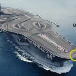 BMW M4 goes drifting on an Aircraft Carrier