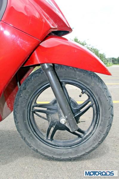 2014 TVS Wego 110 wheel