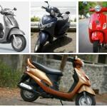 Comparo: Honda Activa 125 vs Suzuki Access 125 vs Vespa LX 125 vs Mahindra Rodeo RX 125