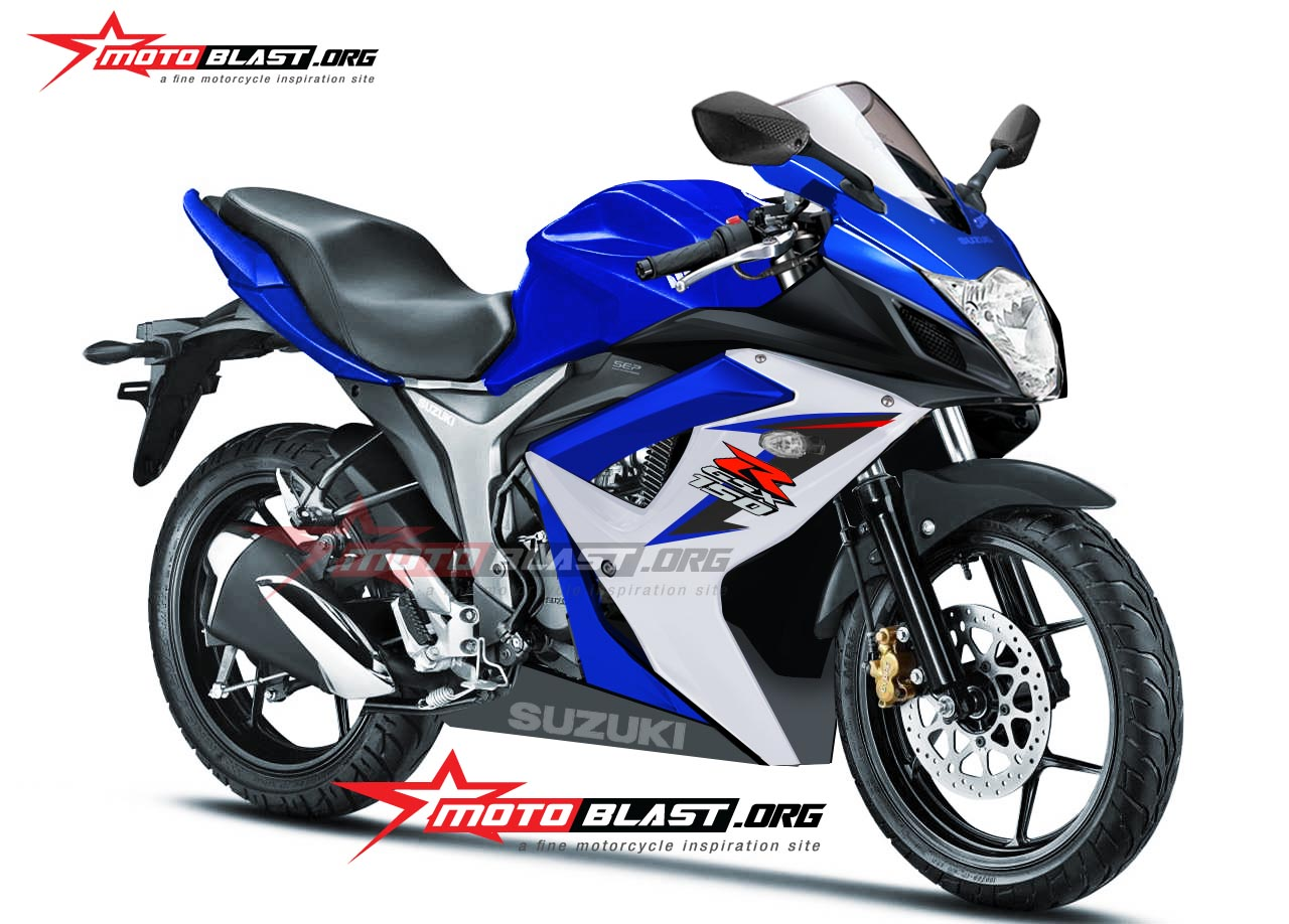 Fully Faired Gixxer 155 (GSX-R 150) rendered, coming Mid-2015