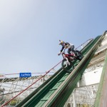 Video: Riding a motorcycle on one of the highest roller coasters in the world